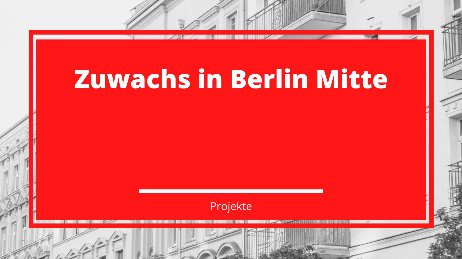 Zuwachs in Berlin Mitte